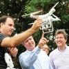 Prefeito acompanha inspeção via drone em áreas de plantio de mudas no San Conrado