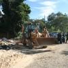 Construção irregular é demolida na Avenida Mario Garnero