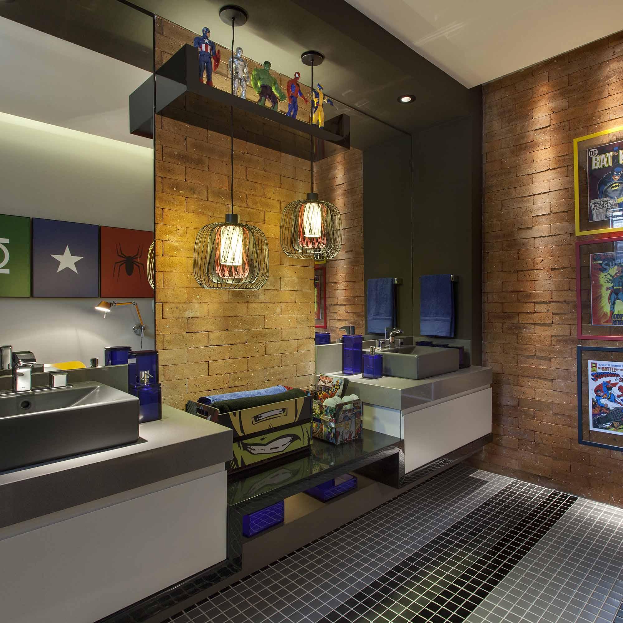 Banheiro De Criança Site Construção E Design Pictures to pin on  #9C762F 2000x2000 Acessorios Banheiro Campinas