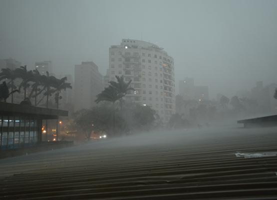Em toda a cidade de Campinas, pelo menos 75 árvores caíram e 10 pontos de alagamentos foram identificados, segundo a Defesa Civil